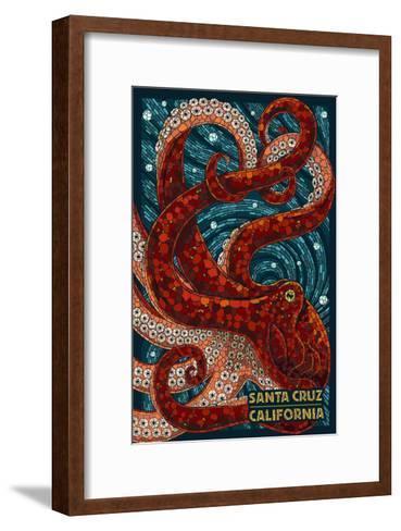Santa Cruz, California - Octopus Mosaic-Lantern Press-Framed Art Print