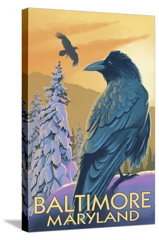 Baltimore, Maryland - Raven-Lantern Press-Stretched Canvas Print
