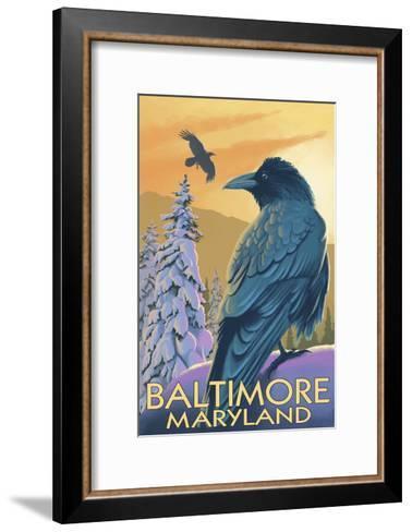 Baltimore, Maryland - Raven-Lantern Press-Framed Art Print