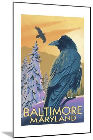 Baltimore, Maryland - Raven-Lantern Press-Mounted Art Print