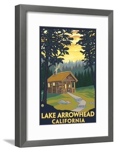 Lake Arrowhead, California -Cabin in the Woods-Lantern Press-Framed Art Print