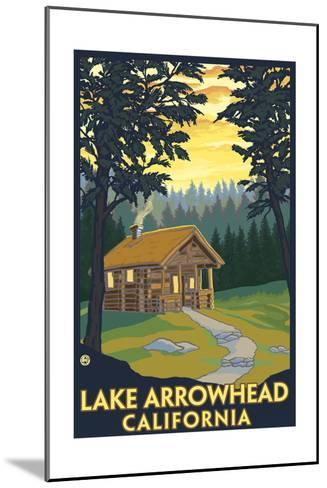 Lake Arrowhead, California -Cabin in the Woods-Lantern Press-Mounted Art Print