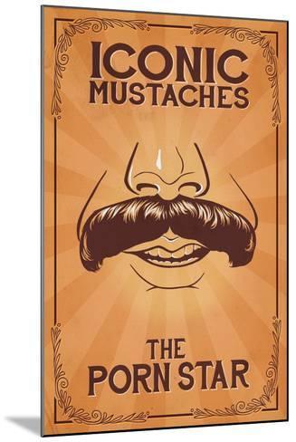 Iconic Mustaches - Porn Star-Lantern Press-Mounted Art Print