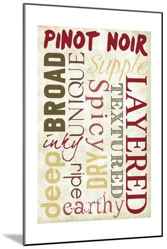 Pinot Noir Typography-Lantern Press-Mounted Art Print