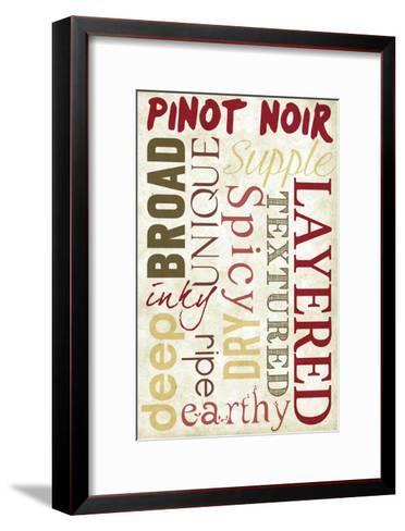 Pinot Noir Typography-Lantern Press-Framed Art Print