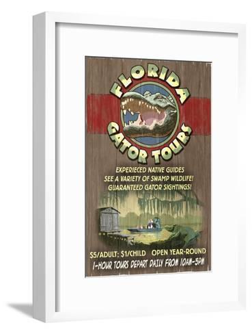 Florida - Alligator Tours Vintage Sign-Lantern Press-Framed Art Print