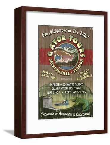 Jacksonville, Florida - Alligator Tours Vintage Sign-Lantern Press-Framed Art Print