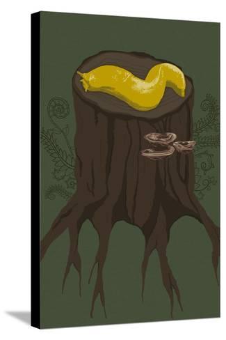 Banana Slug-Lantern Press-Stretched Canvas Print