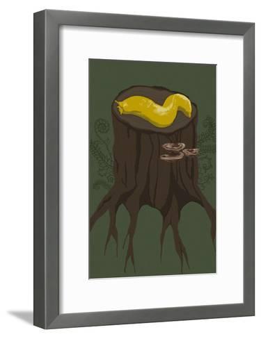 Banana Slug-Lantern Press-Framed Art Print