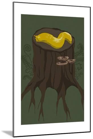 Banana Slug-Lantern Press-Mounted Art Print