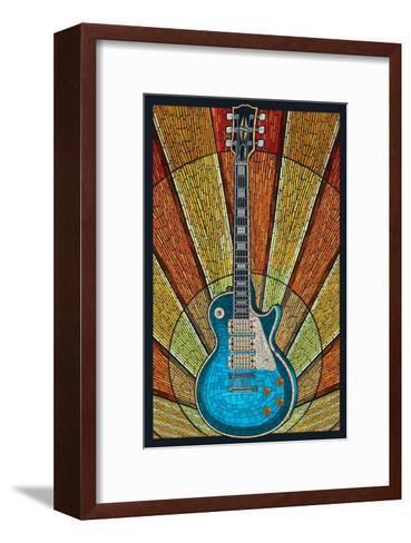 Guitar - Mosaic-Lantern Press-Framed Art Print