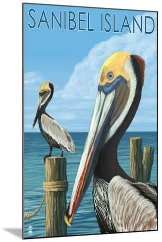 Sanibel Island, Florida - Pelican-Lantern Press-Mounted Art Print