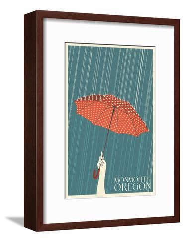 Monmouth, Oregon - Umbrella-Lantern Press-Framed Art Print