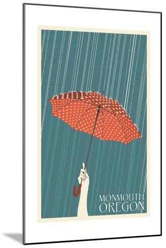 Monmouth, Oregon - Umbrella-Lantern Press-Mounted Art Print