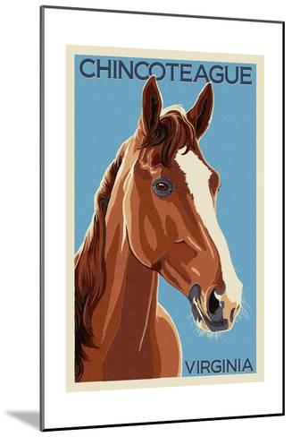 Chincoteague, Virginia - Horse-Lantern Press-Mounted Art Print