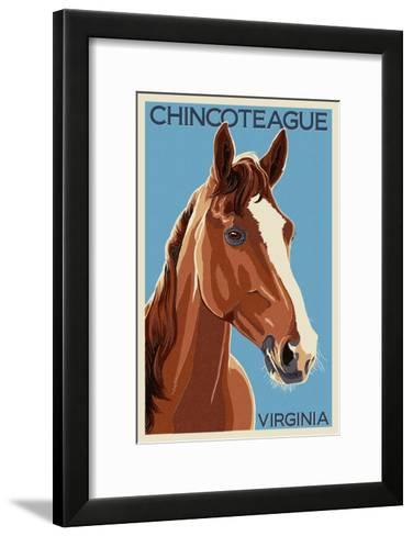 Chincoteague, Virginia - Horse-Lantern Press-Framed Art Print