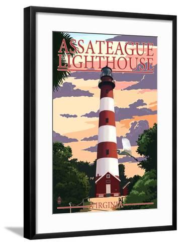 Assateague, Virginia - Lighthouse-Lantern Press-Framed Art Print