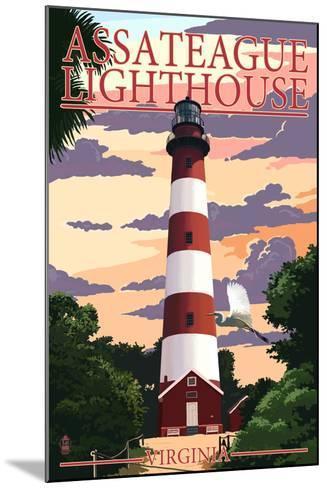 Assateague, Virginia - Lighthouse-Lantern Press-Mounted Art Print