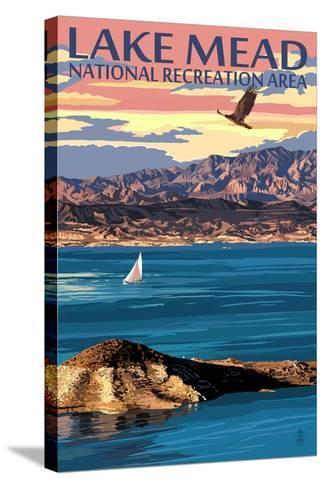 Lake Mead - National Recreation Area - Lake View-Lantern Press-Stretched Canvas Print