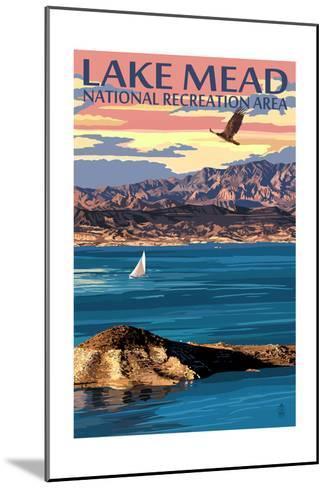 Lake Mead - National Recreation Area - Lake View-Lantern Press-Mounted Art Print