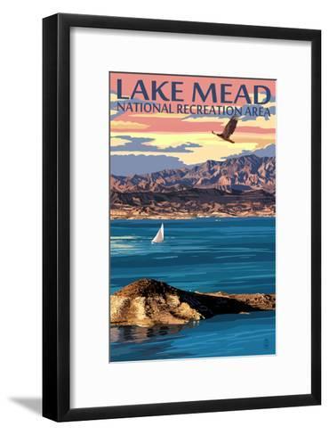 Lake Mead - National Recreation Area - Lake View-Lantern Press-Framed Art Print