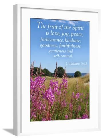 Galatians 5:22 - Inspirational-Lantern Press-Framed Art Print