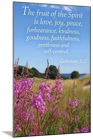 Galatians 5:22 - Inspirational-Lantern Press-Mounted Art Print