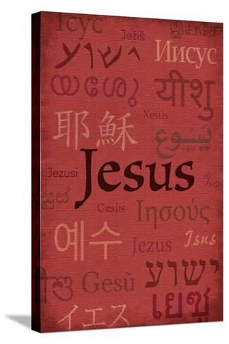 Jesus World Languages - Inspirational-Lantern Press-Stretched Canvas Print