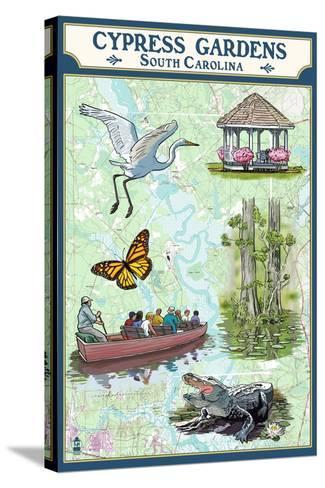 Cypress Gardens, South Carolina - Nautical Chart-Lantern Press-Stretched Canvas Print