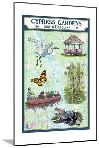 Cypress Gardens, South Carolina - Nautical Chart-Lantern Press-Mounted Art Print