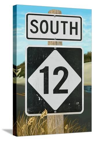 Outer Banks, North Carolina - Route 12 Sign #2- Lantern Press Poster-Lantern Press-Stretched Canvas Print