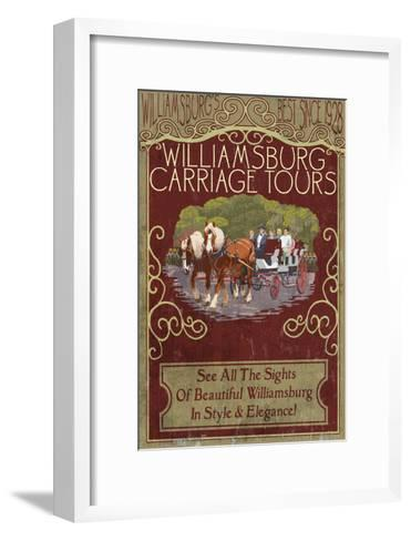 Williamsburg, Virginia - Carriage Tours Vintage Sign-Lantern Press-Framed Art Print