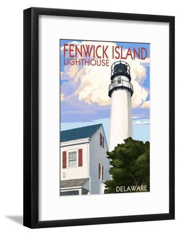 Fenwick Island, Delaware - Lighthouse-Lantern Press-Framed Art Print