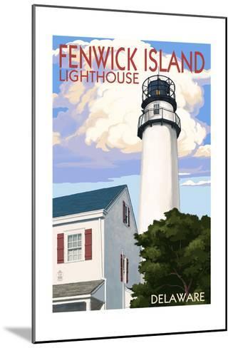 Fenwick Island, Delaware - Lighthouse-Lantern Press-Mounted Art Print