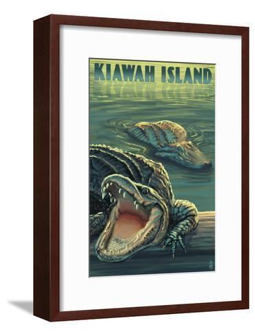 Kiawah Island, South Carolina - Alligator Scene-Lantern Press-Framed Art Print