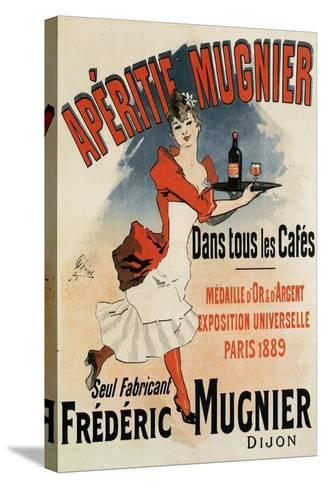 Woman with Tray - Vintage Apertif Mugnier Poster-Lantern Press-Stretched Canvas Print