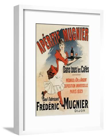 Woman with Tray - Vintage Apertif Mugnier Poster-Lantern Press-Framed Art Print