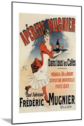 Woman with Tray - Vintage Apertif Mugnier Poster-Lantern Press-Mounted Art Print