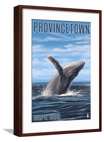 Provincetown, Massachusetts - Humback Whale-Lantern Press-Framed Art Print
