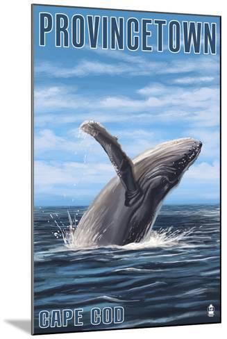 Provincetown, Massachusetts - Humback Whale-Lantern Press-Mounted Art Print