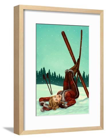 Ski Pinup-Lantern Press-Framed Art Print