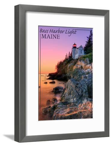 Maine - Bass Harbor Light-Lantern Press-Framed Art Print