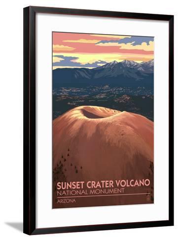 Sunset Crater Volcano National Monument, Arizona-Lantern Press-Framed Art Print