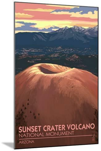 Sunset Crater Volcano National Monument, Arizona-Lantern Press-Mounted Art Print