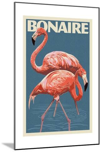 Bonaire, Dutch Caribbean - Flamingo-Lantern Press-Mounted Art Print