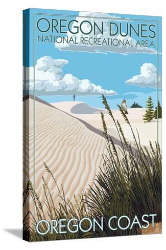 Oregon Dunes National Recreational Area - Day Scene-Lantern Press-Stretched Canvas Print