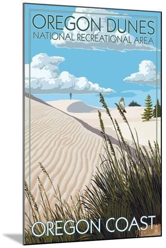 Oregon Dunes National Recreational Area - Day Scene-Lantern Press-Mounted Art Print