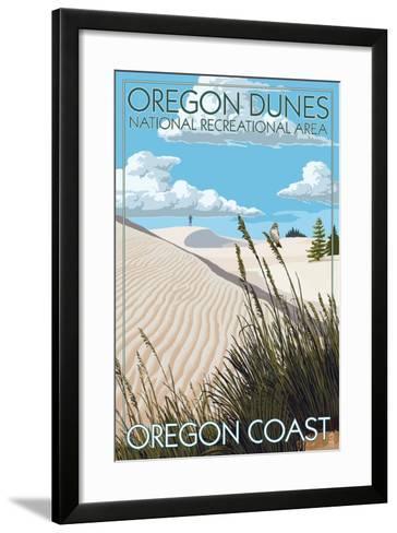 Oregon Dunes National Recreational Area - Day Scene-Lantern Press-Framed Art Print
