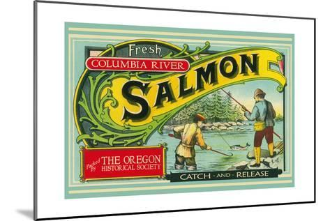 Oregon - Columbia River - the Oregon Historical Society Salmon Label-Lantern Press-Mounted Art Print