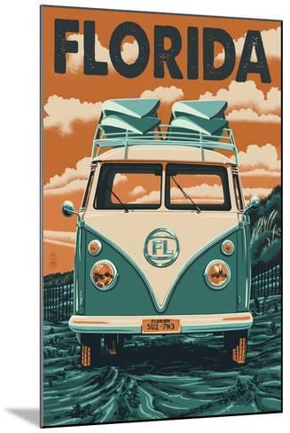 VW Van - Florida-Lantern Press-Mounted Art Print